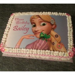 Tangled picture cake
