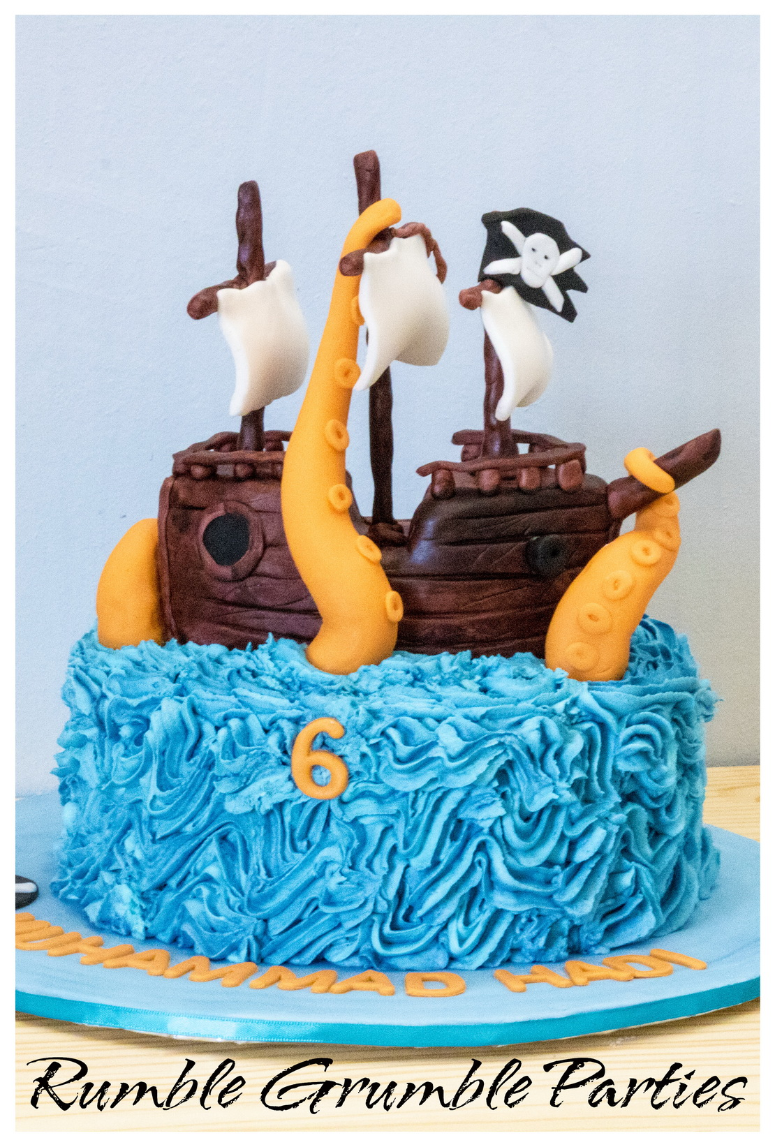 Pirate Cake With Pirate Ship Amp Octopus Tentacles Rumble