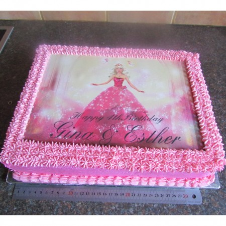 Barbie Picture cake