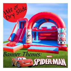 Blue & Red Castle, Disney Cars, Spider man