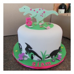 Dinosaur cake for girl 1