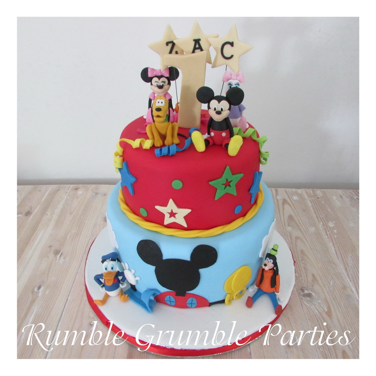 Mickey Mouse Clubhouse Two tier cake with 2 characters