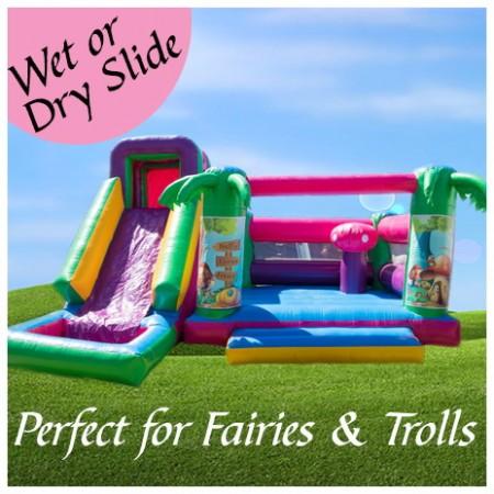 Fairy Garden Jumping Castle for Fairies, Trolls & Tinkerbell.