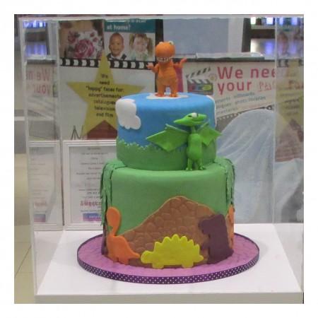 Dinosaur Train Two Tier Cake
