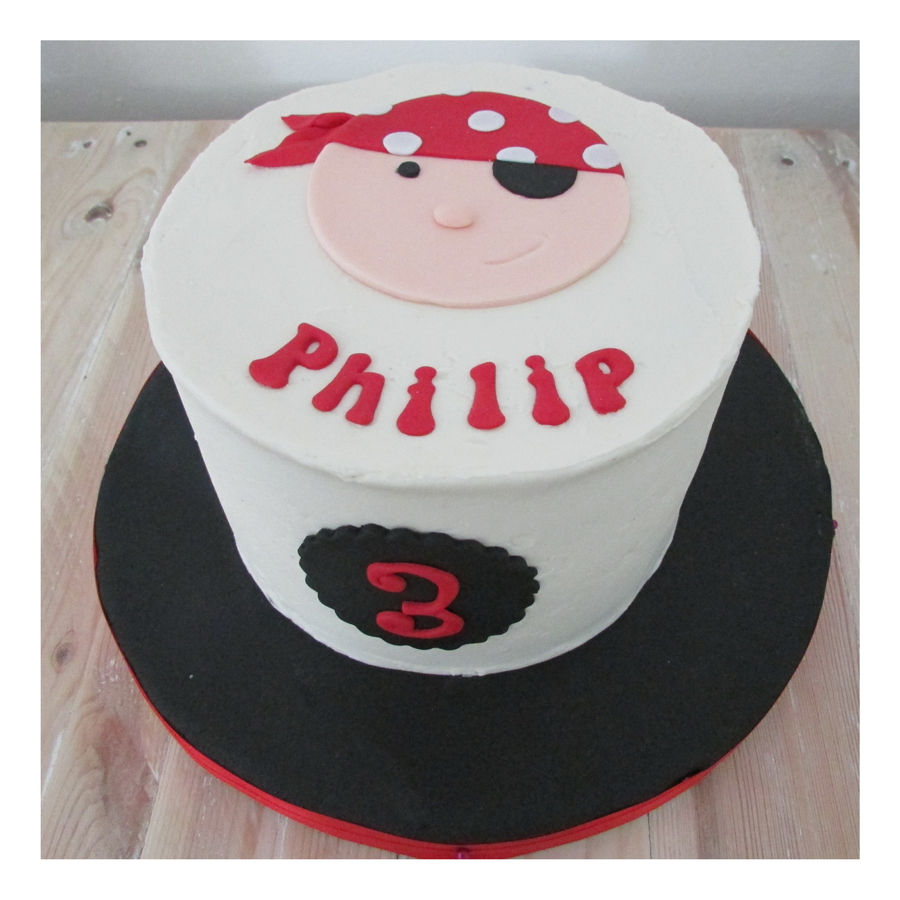 Pirate Face Cake 15 Cm Rumble Grumble Parties