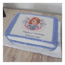 Sofia the first A4 picture cake