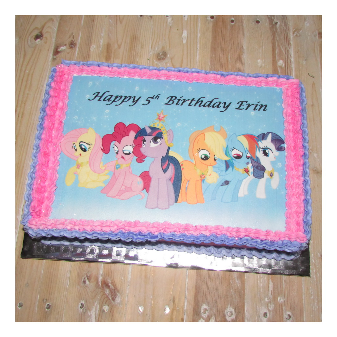 My little pony A4 picture cake Rumble Grumble Parties