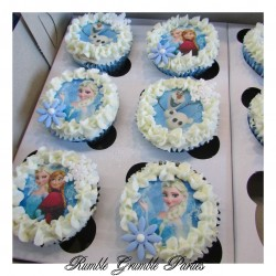 Frozen - printed edible picture cupcake