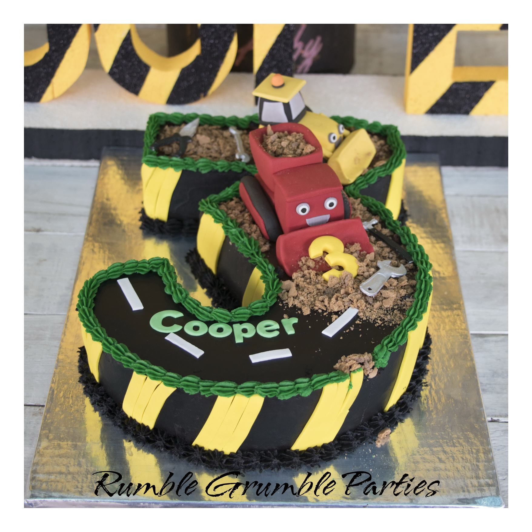 Number 3 Construction Cake  U2013 Rumble Grumble Parties