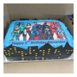 Justice League A4 Picture cake
