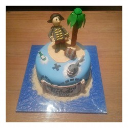 Pirate One tier cake