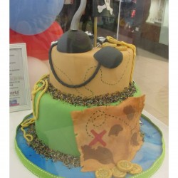 Pirate two tier - side of cake