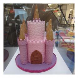 Princess Tower Two Tier Cake
