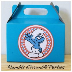 Smurf party box