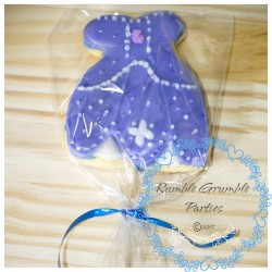 Sofia the 1st dress cookies