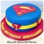Superman 20cm Cake