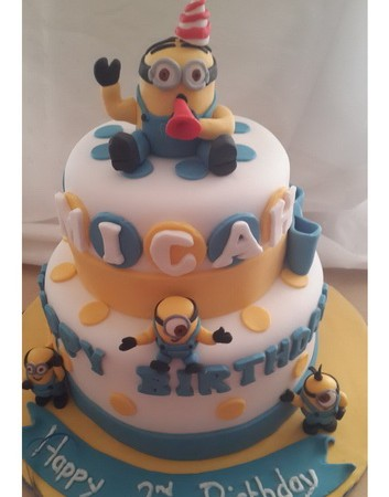 Minion Two Tier Cake Rumble Grumble Parties