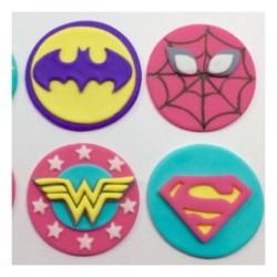 Superheroes 2D Cupcakes